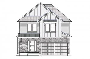 DEVONSHIRE2-PS - Farmhouse B2 Elevation - 2,227 sqft, 4 Bedroom, 2.5 Bathroom - Cardel Homes Ottawa