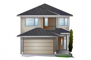 Paloma TEST - A3 Modern Elevation - 2,233 sqft, 3 - 5 Bedroom, 2.5 - 4 Bathroom - Cardel Homes Ottawa