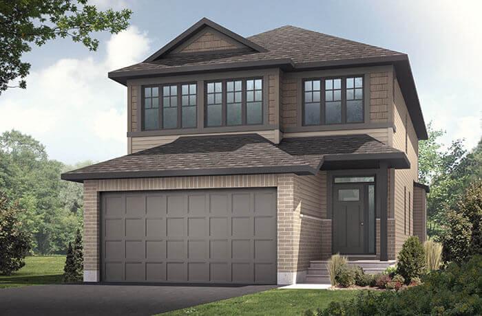 Paloma TEST - A1 Canadiana Elevation - 2,233 sqft, 3 - 5 Bedroom, 2.5 - 4 Bathroom - Cardel Homes Ottawa