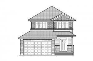 ASHMONT_A1_CANADIANA Elevation - 1,716 sqft, 3 - 4 Bedroom, 2.5 Bathroom - Cardel Homes Ottawa