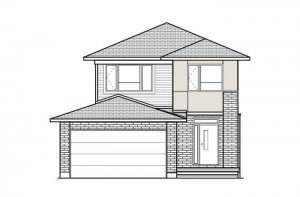 ASHMONT_A3_MODERN Elevation - 1,716 sqft, 3 - 4 Bedroom, 2.5 Bathroom - Cardel Homes Ottawa