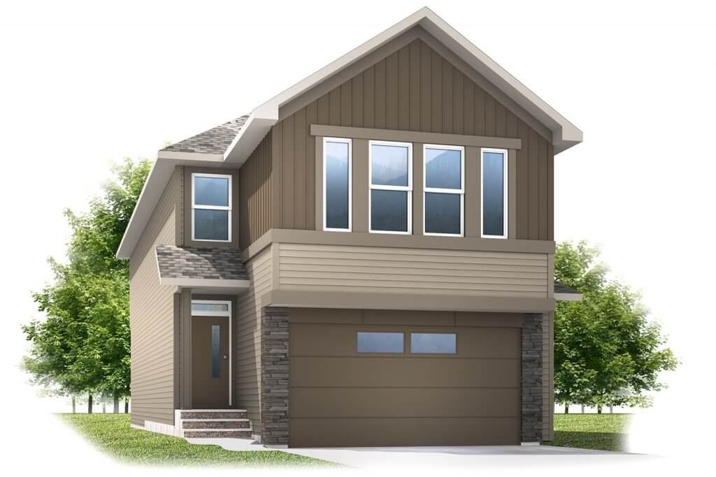 Artisan1---A3-SH Elevation - 2,364 sqft, 4 Bedroom, 2.5 Bathroom - Cardel Homes Calgary