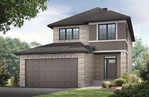 Ashmont_A2-Traditional Elevation - 1,716 sqft, 3 - 4 Bedroom, 2.5 Bathroom - Cardel Homes Ottawa