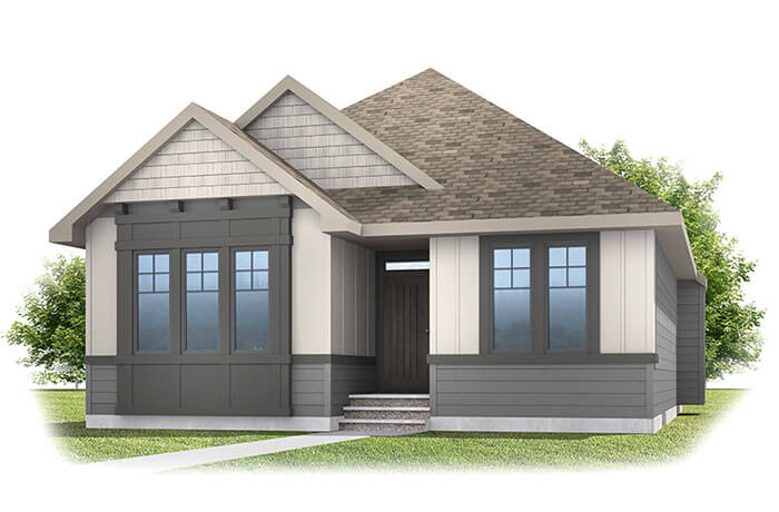 CambriaCourt-700px Elevation - 2,688 sqft, 4 Bedroom, 3 Bathroom - Cardel Homes Calgary