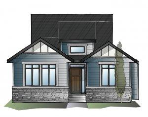 CambriaCourt-Rustic-S2 Elevation - 1,611 sqft, 2 Bedroom, 2 Bathroom - Cardel Homes Calgary