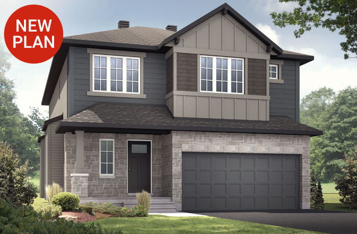 New home in DEVONSHIRE 2 in Millers Crossing in Carleton Place, 2,227 SQFT, 4 Bedroom, 2.5 Bath, Starting at 517,000 - Cardel Homes Ottawa