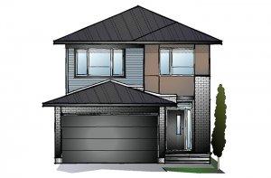 EW-BAXTER A3 MODERN Elevation - 1,703 sqft, 3 - 4 Bedroom, 2.5 Bathroom - Cardel Homes Ottawa