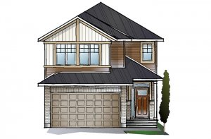 EW-CORDERO A1 CANADIANA Elevation - 2,640 sqft, 4 - 5 Bedroom, 2.5 - 4 Bathroom - Cardel Homes Ottawa