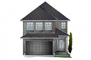 EW-CORDERO A2 TRADITIONAL Elevation - 2,640 sqft, 4 - 5 Bedroom, 2.5 - 4 Bathroom - Cardel Homes Ottawa