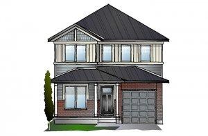 EW-LANGSTON A1 CANADIANA Elevation - 1,836 sqft, 3 Bedroom, 2.5 Bathroom - Cardel Homes Ottawa