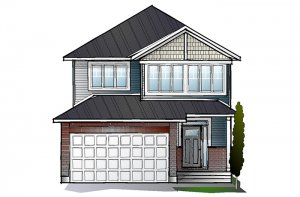 EW-LOWELL A1 CANADIANA Elevation - 2,132 sqft, 3 - 4 Bedroom, 2.5 Bathroom - Cardel Homes Ottawa