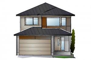 EW-LOWELL A3 MODERN Elevation - 2,132 sqft, 3 - 4 Bedroom, 2.5 Bathroom - Cardel Homes Ottawa