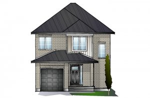 EW-MADIGAN A2 TRADITIONAL Elevation - 1,957 sqft, 3 Bedroom, 2.5 Bathroom - Cardel Homes Ottawa