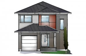 EW-MADIGAN A3 MODERN Elevation - 1,957 sqft, 3 Bedroom, 2.5 Bathroom - Cardel Homes Ottawa