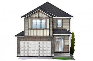 EW-MINETTA A1 CANADIANA Elevation - 1,852 sqft, 3 - 4 Bedroom, 2.5 Bathroom - Cardel Homes Ottawa