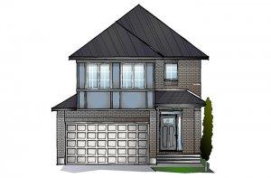 EW-MINETTA A2 TRADITIONAL Elevation - 1,852 sqft, 3 - 4 Bedroom, 2.5 Bathroom - Cardel Homes Ottawa