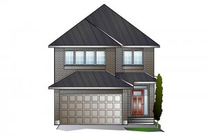 EW-PALOMA A2 TRADITIONAL Elevation - 2,233 sqft, 3 - 5 Bedroom, 2.5 - 4 Bathroom - Cardel Homes Ottawa