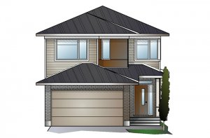 EW-PALOMA A3 MODERN Elevation - 2,233 sqft, 3 - 5 Bedroom, 2.5 - 4 Bathroom - Cardel Homes Ottawa
