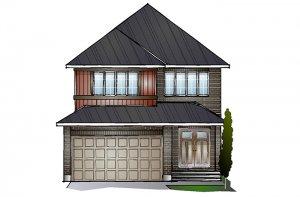 EW-SUTTON A2 TRADITIONAL Elevation - 2,366 sqft, 4 Bedroom, 2.5 Bathroom - Cardel Homes Ottawa
