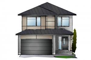 EW-SUTTON A3 MODERN Elevation - 2,366 sqft, 4 Bedroom, 2.5 Bathroom - Cardel Homes Ottawa