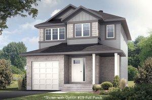 EW_MADIGAN_A1_CANADIANA Elevation - 1,957 sqft, 3 Bedroom, 2.5 Bathroom - Cardel Homes Ottawa