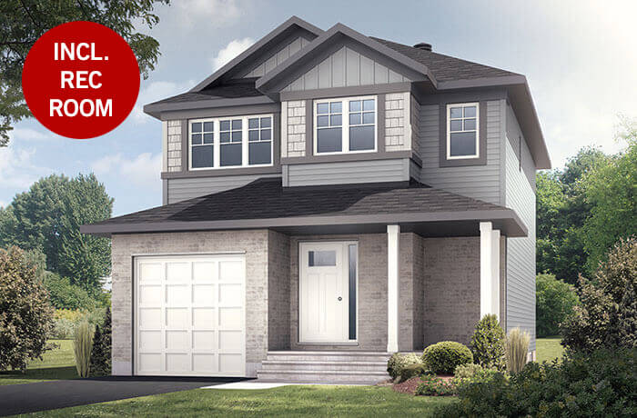 New home in MADIGAN in EdenWylde, 1,957 SQFT, 3 Bedroom, 2.5 Bath, Starting at 482,000 - Cardel Homes Ottawa