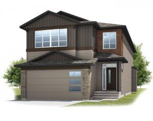 SAV-ASTER1-URBAN-CRAFTSMAN-A1 Elevation - 2,609 sqft, 4 Bedroom, 2.5 Bathroom - Cardel Homes Calgary