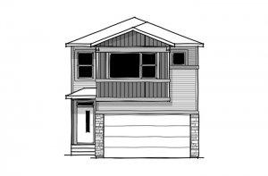 SAV-MG-ARTISAN-1-A1 Elevation - 2,364 sqft, 4 Bedroom, 2.5 Bathroom - Cardel Homes Calgary