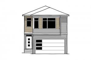 SAV-MG-ARTISAN-1-A2 Elevation - 2,364 sqft, 4 Bedroom, 2.5 Bathroom - Cardel Homes Calgary