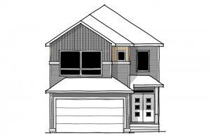 SAV-MG-ASTER-1-A2 Elevation - 2,609 sqft, 4 Bedroom, 2.5 Bathroom - Cardel Homes Calgary