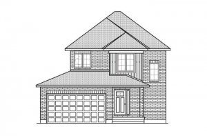 TALA_A2_TRADITIONAL Elevation - 1,556 sqft, 3 Bedroom, 2.5 Bathroom - Cardel Homes Ottawa