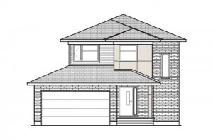 TALA_A3_MODERN Elevation - 1,556 sqft, 3 Bedroom, 2.5 Bathroom - Cardel Homes Ottawa