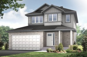 Tala_A1-Canadiana Elevation - 1,556 sqft, 3 Bedroom, 2.5 Bathroom - Cardel Homes Ottawa