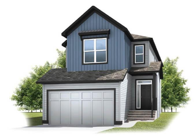 cardel-homes-calgary-cornerbrook-sereno-front-garage-model-home