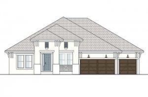 Wesley MB - Coastal A2 Elevation - 2,830 - 3,228 sqft, 4 Bedroom, 3-4 Bathroom - Cardel Homes Tampa