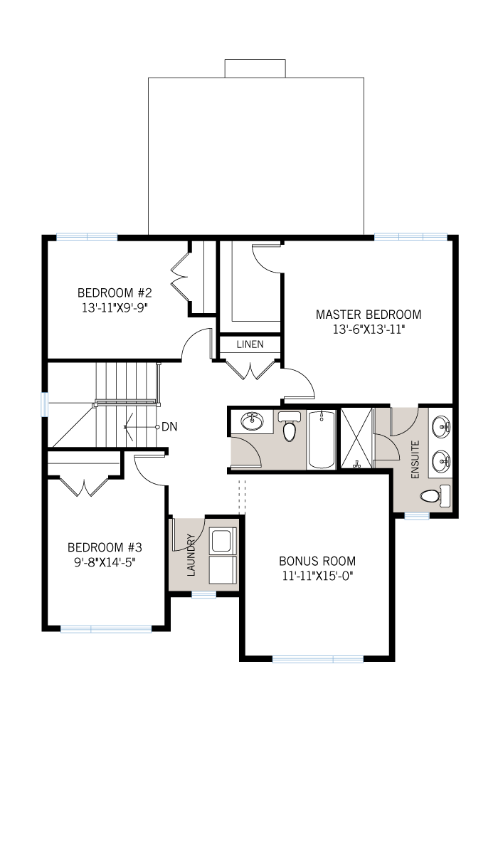 The Cornell home upper floor quick possession in Millers Crossing in Carleton Place, located at 4 Flegg Way Ottawa Built By Cardel Homes