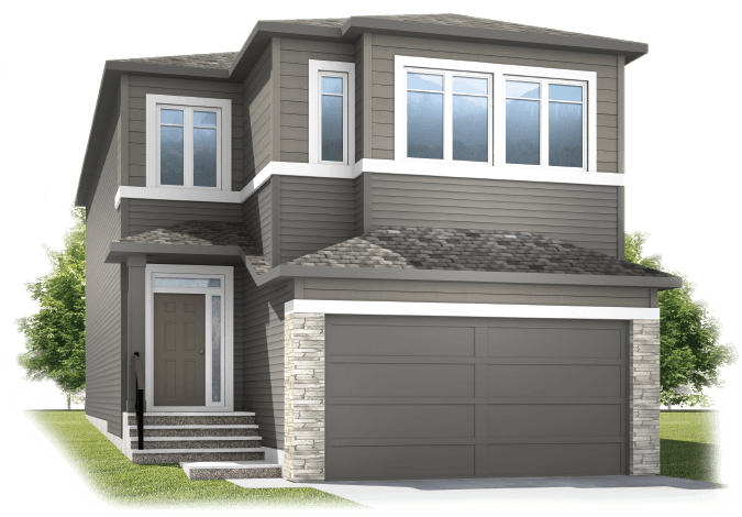 New Calgary Single Family Home Aster 1 in Shawnee Park, located at 244 Cornerbrook Common NE Built By Cardel Homes Calgary