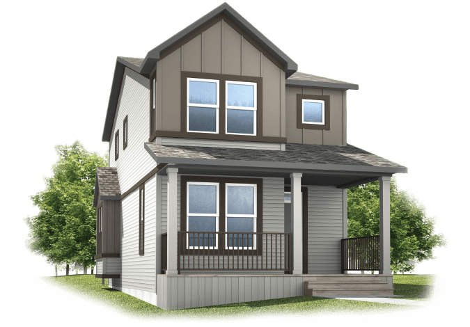 New Calgary Single Family Home Mensa in Shawnee Park, located at 16 Cornerbrook Way NE Built By Cardel Homes Calgary