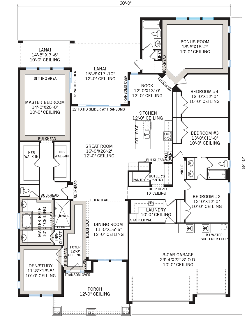 New Tampa Single Family Home Quick Possession St. Lucia Floorplan in Bexley, located at 16766 COURTYARD LOOP, <br />