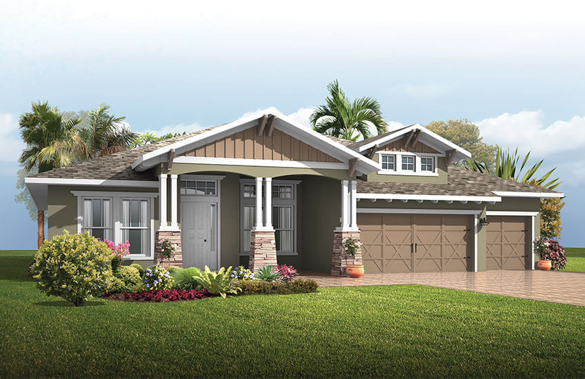 New Tampa Single Family Home Quick Possession St. Lucia in Bexley, located at 16766 COURTYARD LOOP, <br />