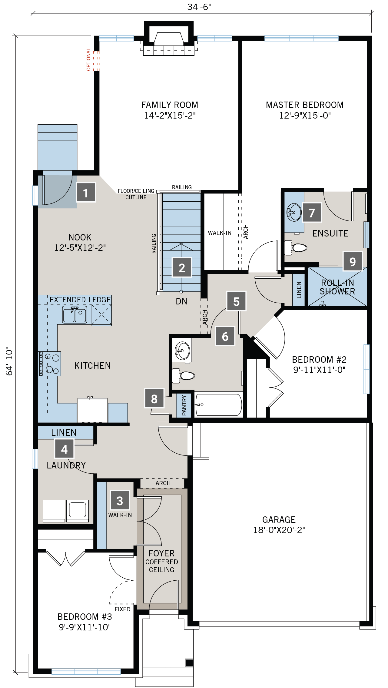 Universal Design Features Floorplan