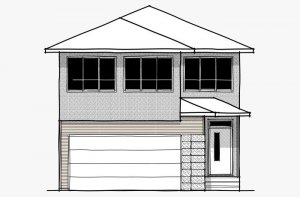 Vintage - Prairie F1 Elevation - 2,373 sqft, 3 Bedroom, 2.5 Bathroom - Cardel Homes Calgary