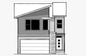 Vintage - Eichler F2 Elevation - 2,373 sqft, 3 Bedroom, 2.5 Bathroom - Cardel Homes Calgary