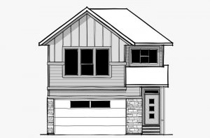 Vintage - Craftsman F3 Elevation - 2,373 sqft, 3 Bedroom, 2.5 Bathroom - Cardel Homes Calgary