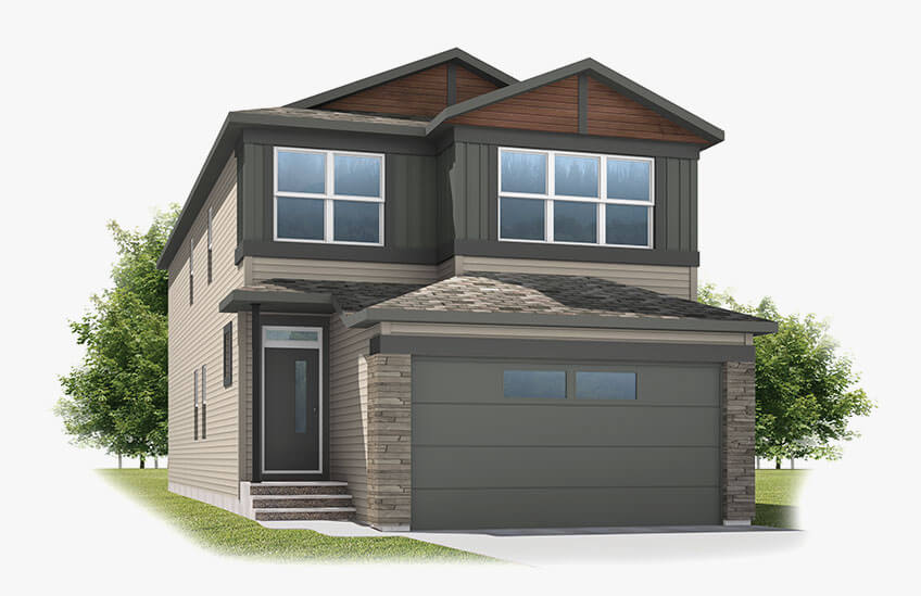 New Calgary Single Family Home Quick Possession Sabal in Savanna, located at 25 SAVANNA GREEN NE Built By Cardel Homes Calgary