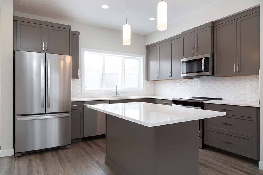 New Calgary Single Family Home Quick Possession Indigo 1 in Savanna, located at 9048 52 STREET NE Built By Cardel Homes