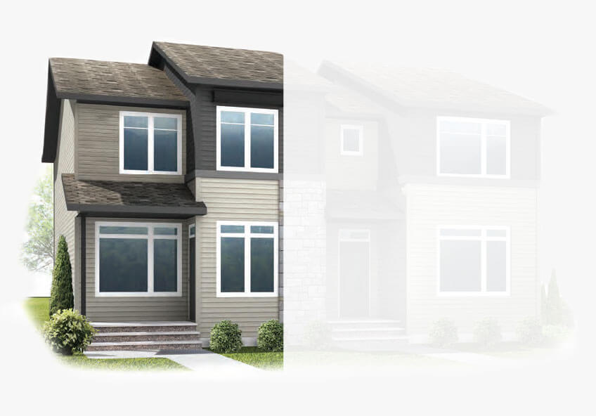 New Calgary Single Family Home Quick Possession Indigo 1 in Savanna, located at 9048 52 STREET NE Built By Cardel Homes Calgary