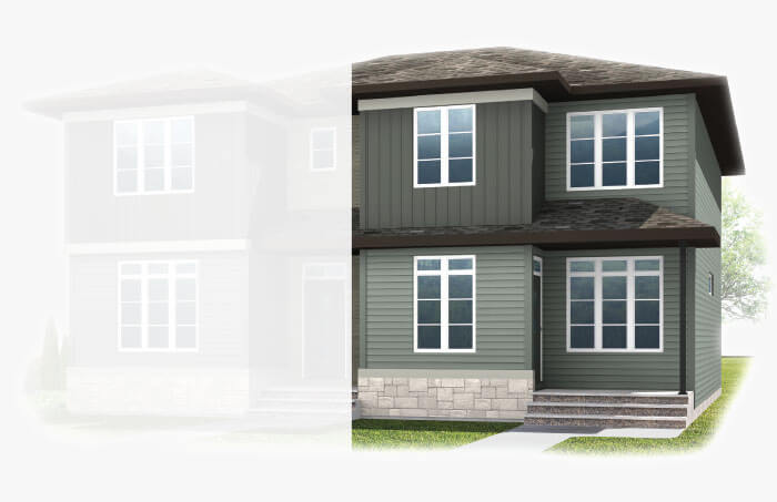 New Calgary Single Family Home Quick Possession Indigo 2 in Savanna, located at 9020 52 STREET NE Built By Cardel Homes Calgary