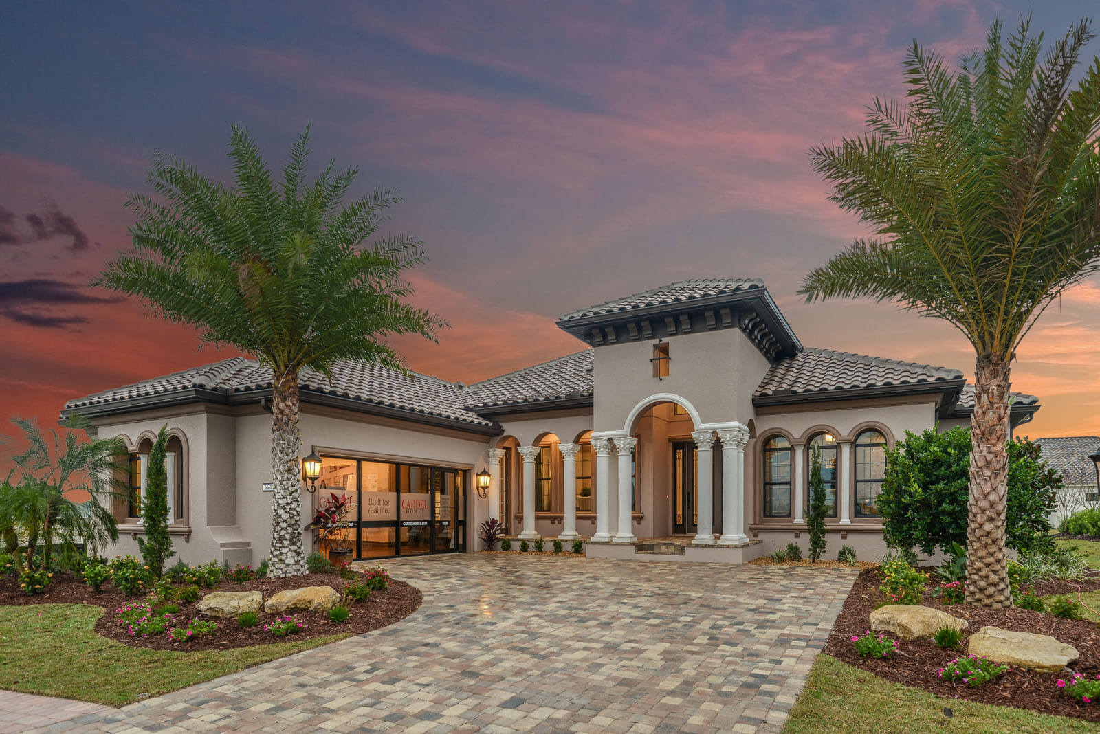 New Tampa  Model Home Toriana in Lakewood Ranch, located at 16613 Berwick Terrace Built By Cardel Homes Tampa