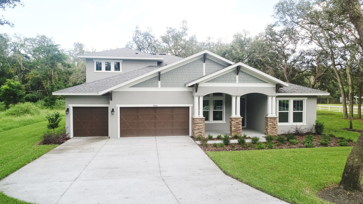 New Tampa Single Family Home Quick Possession Henley in Oakwood Reserve, located at 2420 CLEMENT ROAD, LUTZ, FL 33549 Built By Cardel Homes